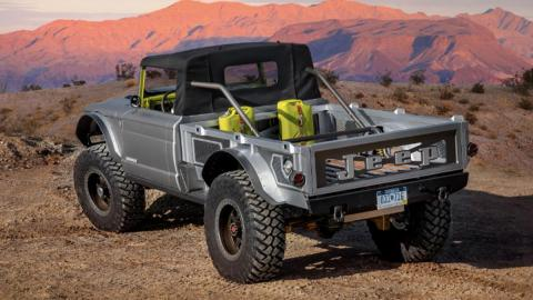 Concept Jeep M-715 Five-Quarter, tres cuartos trasero