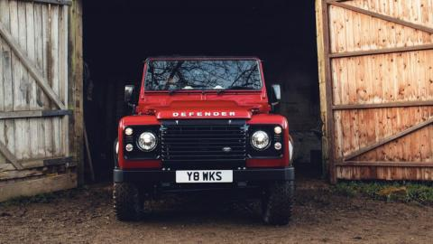 Land Rover Defender, frontal