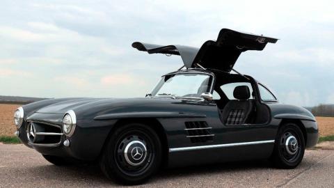 Mercedes 300SL réplica, tres cuartos delantero
