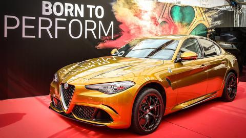 Alfa Romeo Giulia dorado