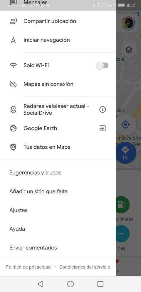 Velocímetro en Google Maps