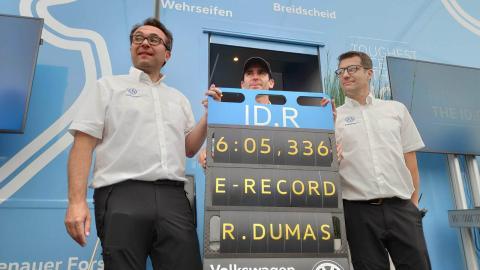 Volkswagen ID. R récord en Nürburgring
