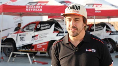 Fernando Alonso desde Namibia