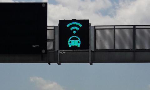 señal carril coche autonomo