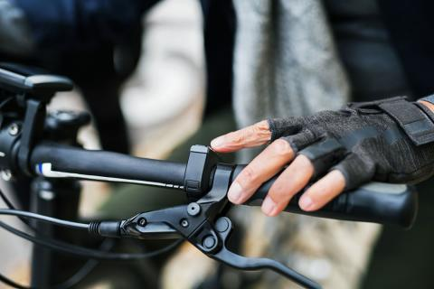 Manillar de una bici