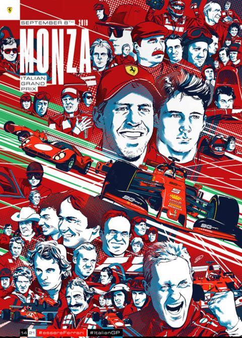 Poster de Ferrari para Monza