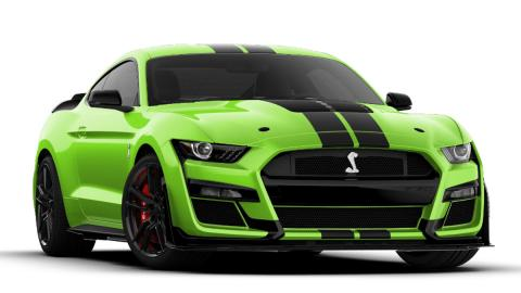 ford mustang frontal deportivo americano verde