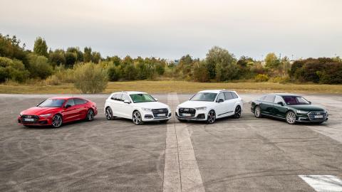 Gama de coches Audi híbridos enchufables