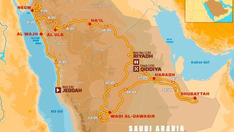 recorrido arabia saudí etapas peninsula arabica dunas desierto