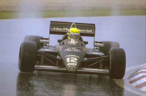 En Silverstone, cuando llovía