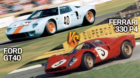 Ferrari vs Ford: Ferrari GT40 vs Ferrari 330 P4