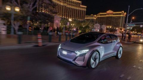 Audi AI:ME en movimiento