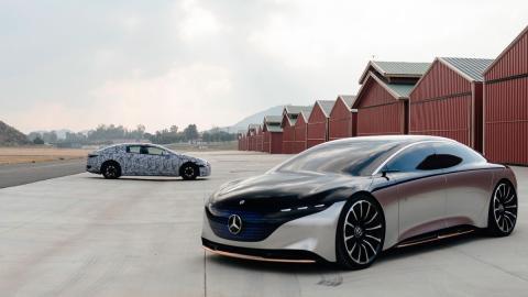 Mercedes EQS producción y prototipo