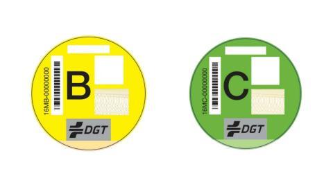 Diferencias entre la etiqueta DGT B y C