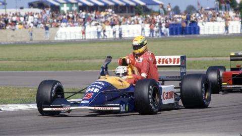 Mansell Senna GP Gran Bretana F1