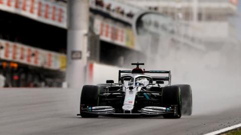 Mercedes F1 test Barcelona