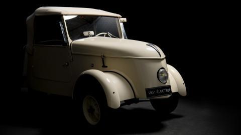 coche electrico pequeno ciudad segunda guerra mundial