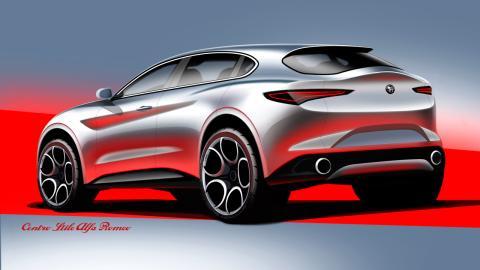 Boceto del Alfa Romeo Stelvio 2017