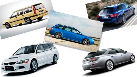 Cinco coches familiares