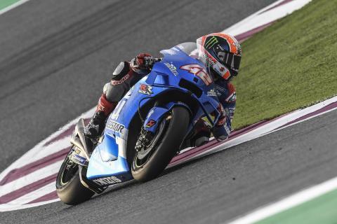 Álex Rins en los test de Qatar de MotoGP 2020