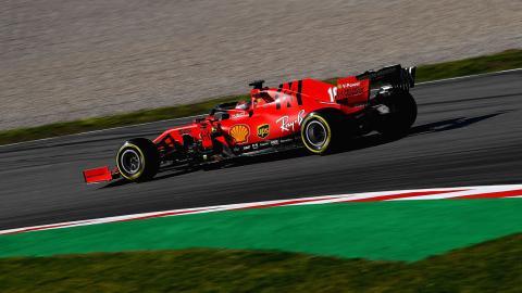 Ferrari Formula 1 en los test de Barcelona 2020