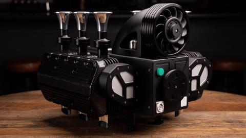 Máquina café motor Porsche 993