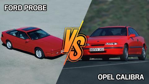 Opel Calibra vs Ford Probe