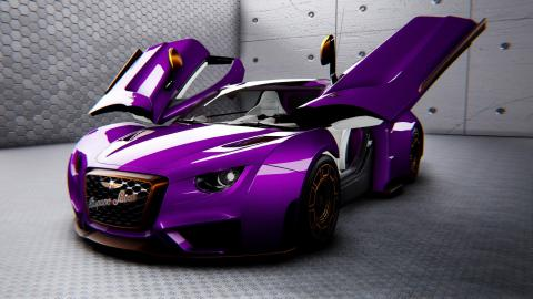 En un indescriptible color morado