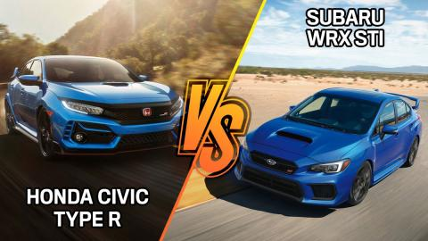 Honda Civic Type R vs Subaru WRX STI