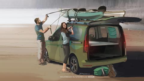 Así será el nuevo Volkswagen Caddy Camper