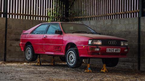 Audi Quattro abandonado