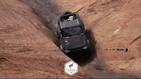 En Moab. Extraído de un vídeo de Bronco Nation