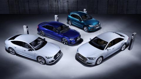 Coches híbridos enchufables Audi
