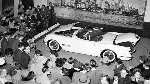 Presentación del Corvette en Motorama, 1963