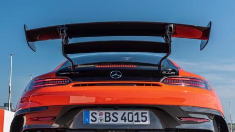 Galería: detalles exteriores de la prueba del Mercedes AMG GT Black Series