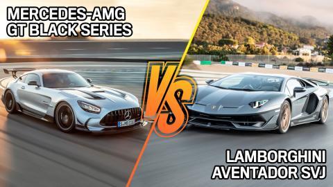 Lamborghini Aventador SVJ vs Mercedes-AMG GT Black Series