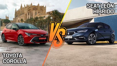 Seat León híbrido vs Toyota Corolla
