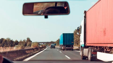 Camiones en una autopista en Alemania