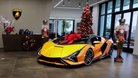 superdeportivo lujo extremo dinero navidad regalo