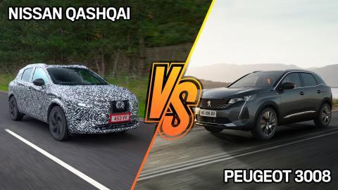 Peugeot 3008 o Nissan Qashqai mejor SUV 2021