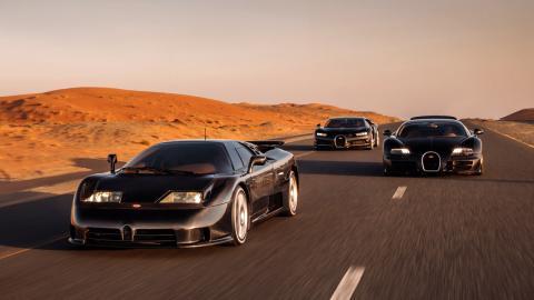 La santísima trinidad de Bugatti: el EB110, el Veyron y el Chiron