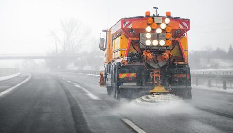 Carretera con sal