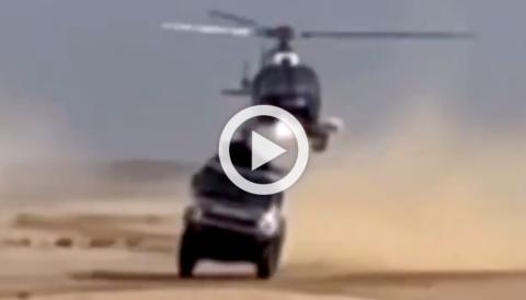 helicoptero y camion del dakar