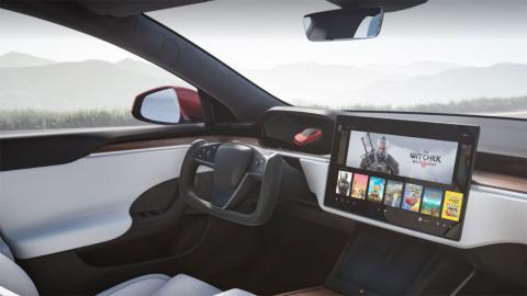 Tesla Model S 2021 gaming