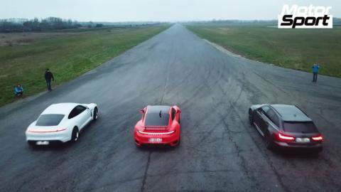 Porsche Taycan Turbo S vs Porsche 911 Turbo S vs Audi RS 6 Avant