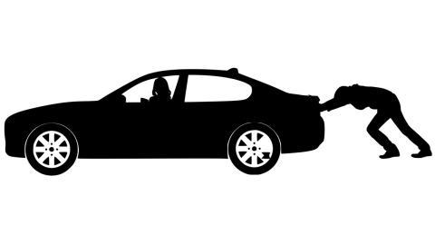 Arrancar coche empujando