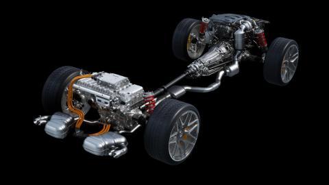 Sistema híbrido del Mercedes-AMG C63