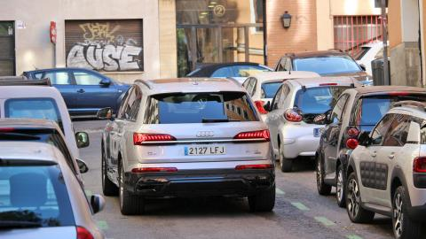 Vehículo con etiqueta '0' en Madrid Central
