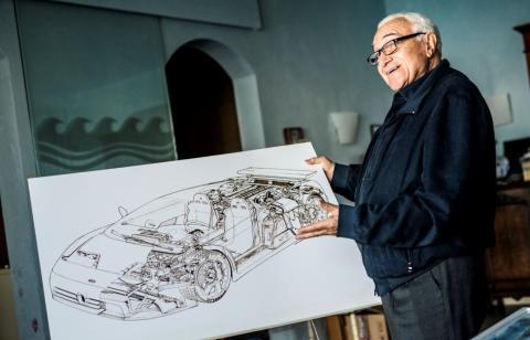 Romano Artioli, propietario de Bugatti en los 90