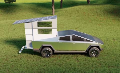 Tesla Cybertruck caravana
